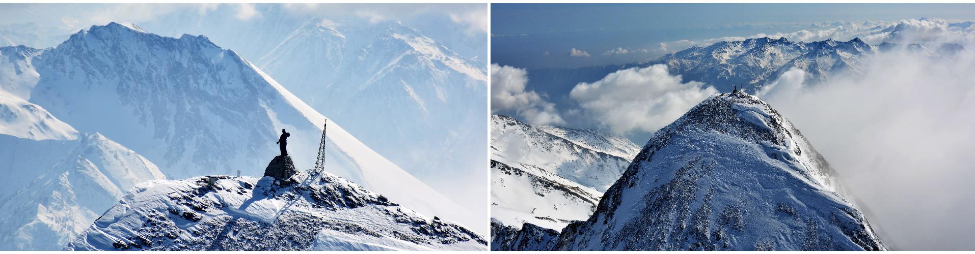 Il santuario sulla cima, un ex-voto di Bonifacio Rotario nella crociata contro i turchi.  Rocciamelone: il santuario più alto d'Europa a 3538 metri d'altitudine.